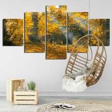Осенний Солнечный Золотой лес опавшие листья фотография Искусство