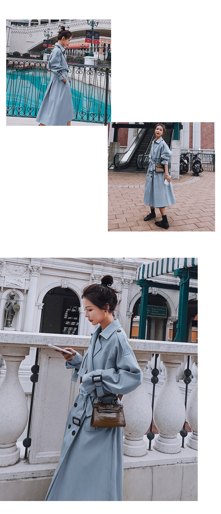 H2656c8b4d28e484785369cdcf5efe5137 2021 Autumn Women Trench Coat With Belt Women Clothes Blue Coat Casaco Feminino Harajuku Abrigo Mujer Long Trench Femme