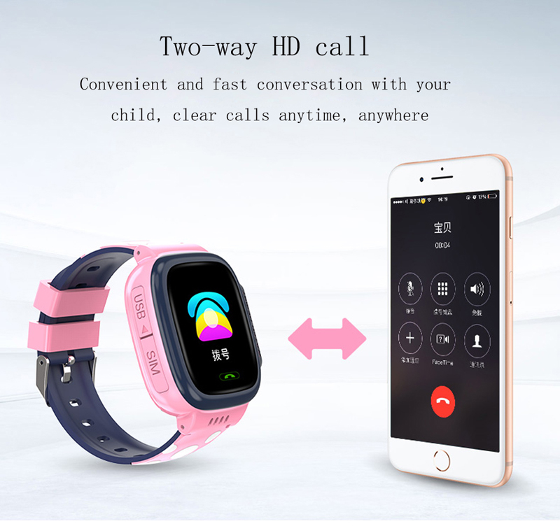 Image 4 - GEJIAN kids watches IPX7 waterproof touch screen SOS mobile phone call device GPS positioning tracker anti lost children's watch-in Children's Watches from Watches