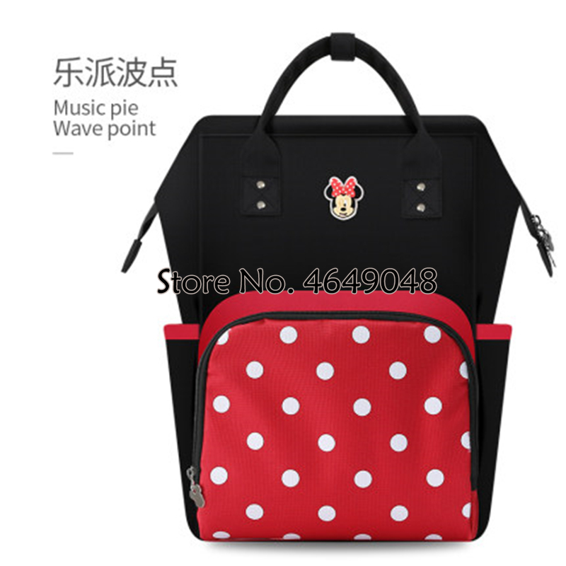 Disney  Mickey Mouse Insulation Baby Mommy Bag Multifunctional Minnie Diaper Maternity Nappy Backpack  Travel Pregnancy Mother