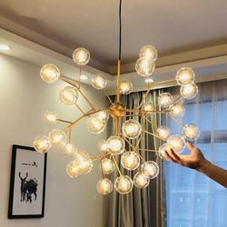 Nowy nowoczesny LED firefly sputnik żyrandol światła stylowa gałąź drzewa żyrandol dekoracyjne żyrandole sufitowe wiszące