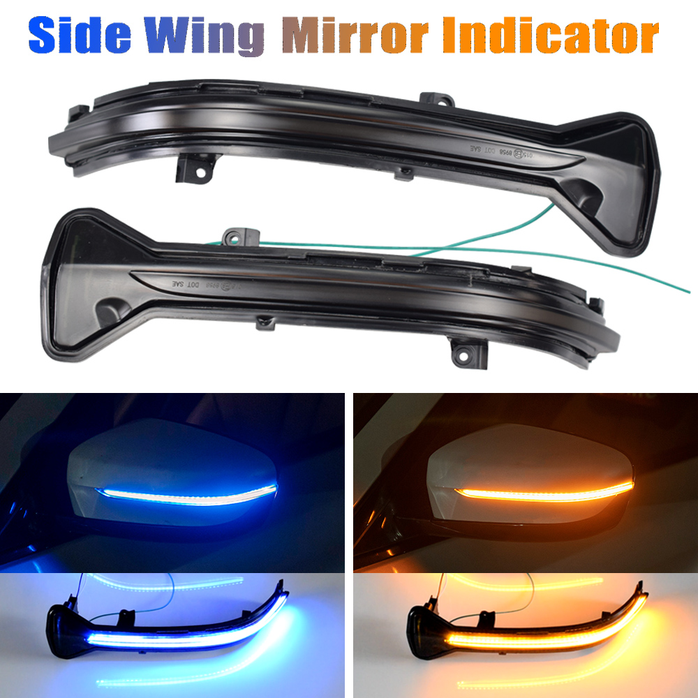 Синий или желтый цвет) светодиодный динамический сигнал поворота светильник для BMW 5, 6, 7, 8, 3 серии G38 G30 G31 G11 G20 M5