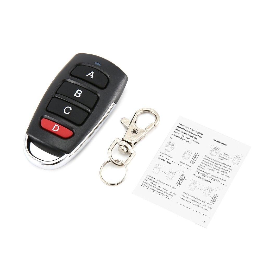 433.92Mhz Wireless Transmitter Gate Garage Opener Cloning Remote Control Key U#