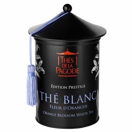 Weißer Tee Orangenblüte Von La Pagode Tees | Prestige Ausgabe - Schachtel Mit 100 Gramm | Entspannender Tee Mit Blumigen Noten