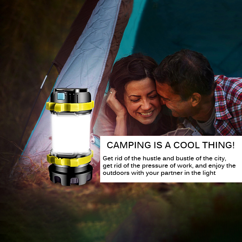 Clearance Chance for  Powerful LED Flashlight Camping Light USB Rechargeable Work Light Dimmable Spotlight Worklight Wate