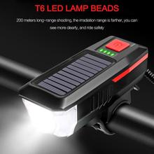 Bicycle Solar Headlight Horn Light Bicycle