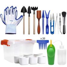 41Pcs Mini Gardening Tools Set Durable Portable Succulent Planting Tools Kit for Garden Gardening Tool Set for succulent home