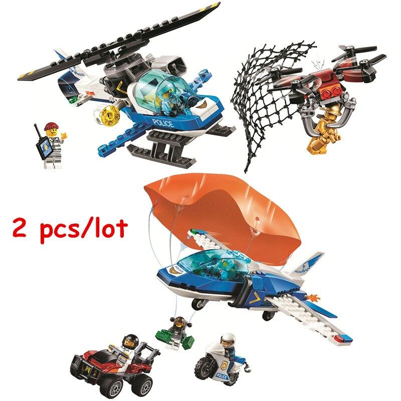 Lego City Policía del cielo Drone Chase 60207