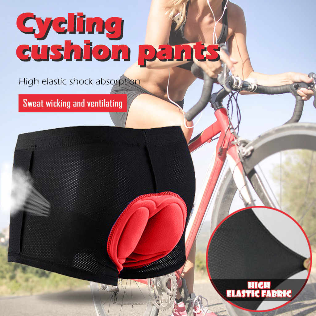 2pcs Soft Gel Cycling Shorts Padded Cushion for Women Men Bike Short Pants