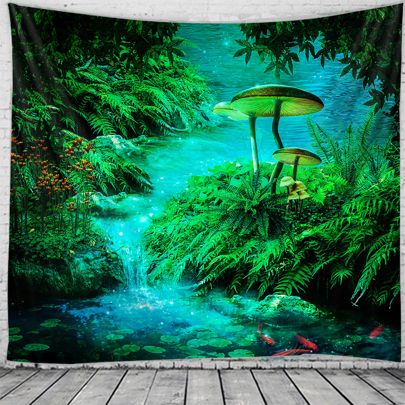 Indian Forest sends tapestries decorating boho macrame hippie witchcraft tapestry
