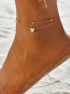 Female Anklets Leg-Chain Foot-Jewelry Heart Women Simple New for Gifts New-Fashion