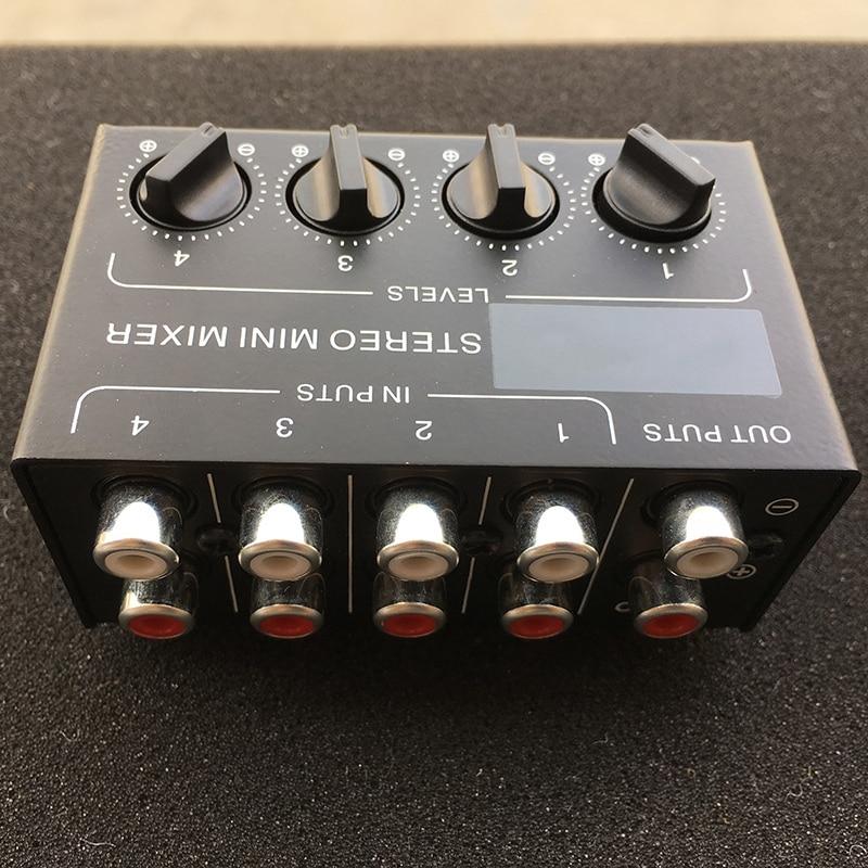 Image 5 - Cx400 Mini Stereo Rca 4 Channel Passive Mixer Small Mixer Mixer Stereo Dispenser for Live and StudioDAC   -