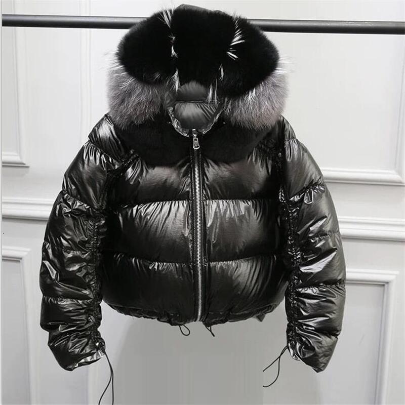 Женская куртка из натурального Лисьего меха, новинка 2019, зимняя куртка, женская теплая парка, натуральный мех, белый утиный пух, пуховик, водонепроницаемое пальто - 3