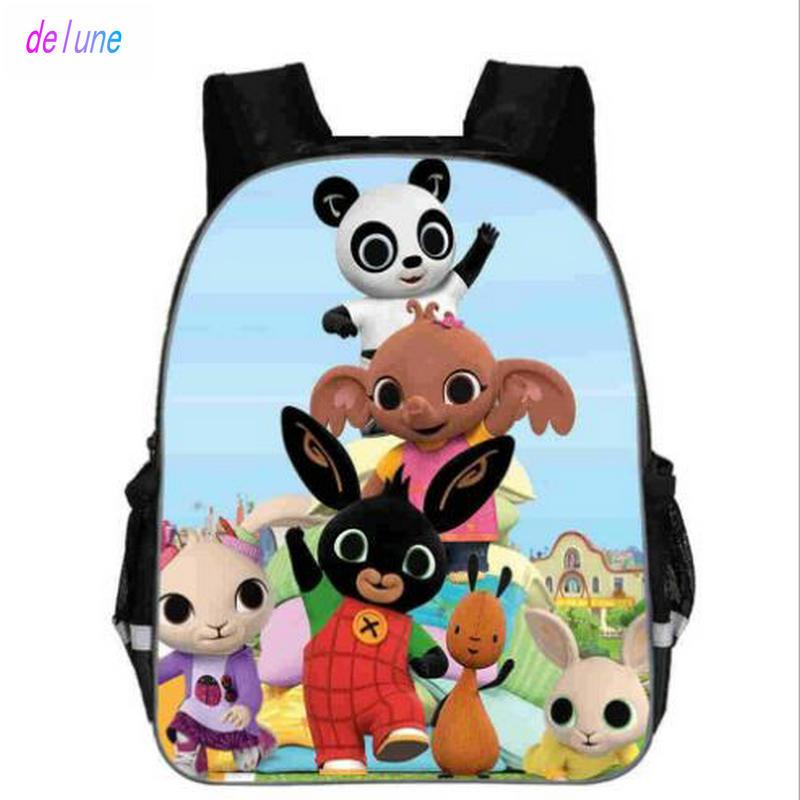 Anime Bing Bunny Print Backpack School Boys Girls Children Book Bag Cartoon Baby Girl Backpack Cartable Enfant Kindergarten Bag