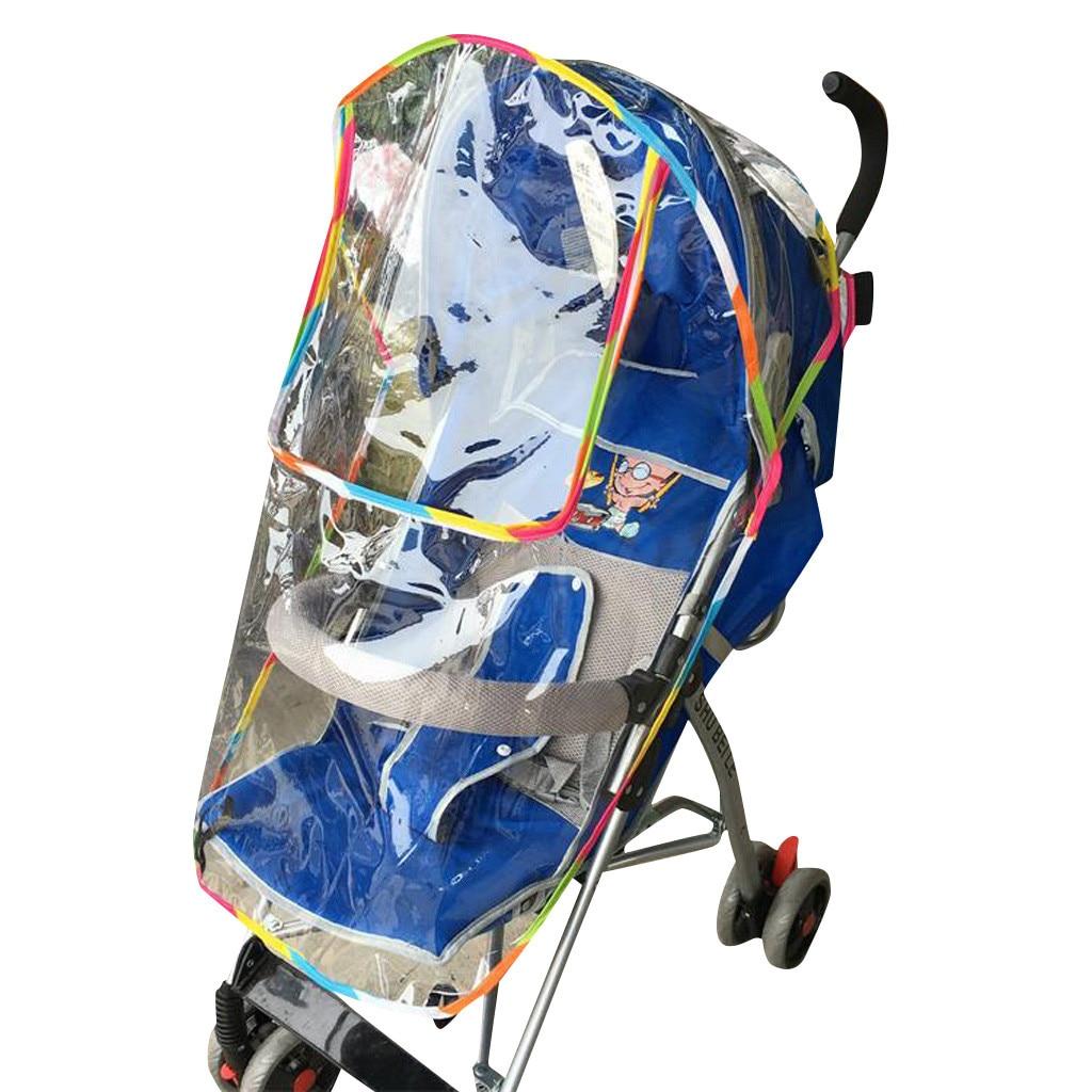 Universal Baby Stroller Rain Cover Waterproof Umbrella Stroller Wind Dust Shield