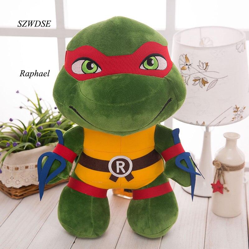 25CM/35CM Children's Plush Toy Movies Hero Big Eyes Tortoise Leonardo Donatello Raphael Michelangelo Boy's Stuffed Doll Toys