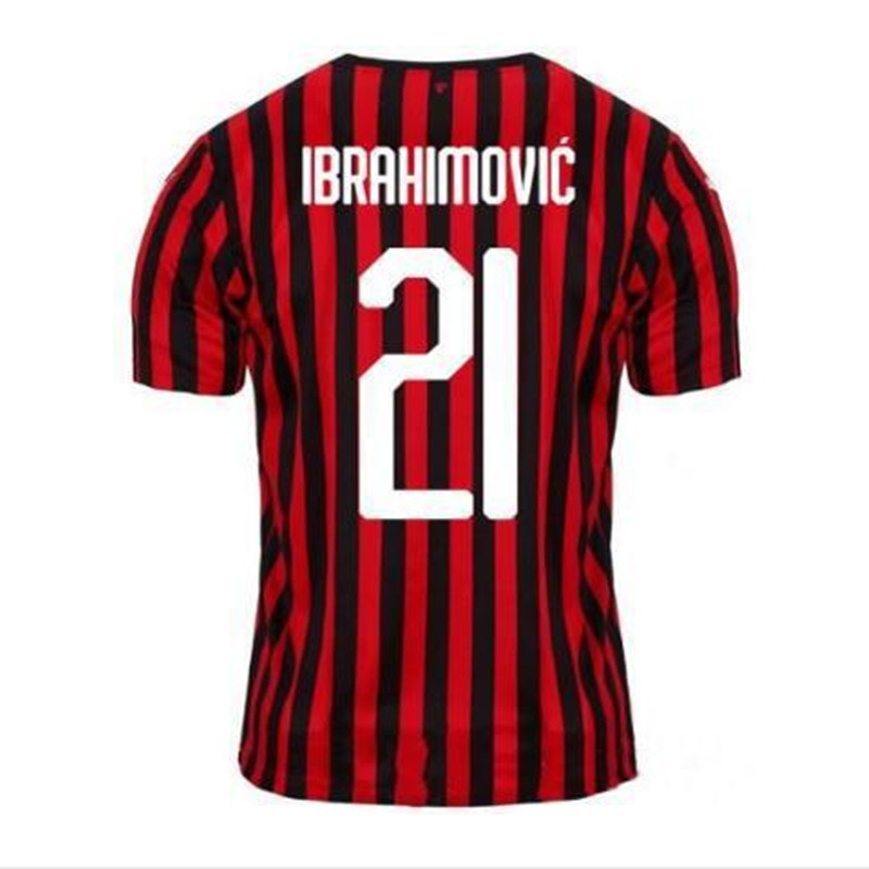 IBRAHIMOVIC 19 20 New AC Soccer Jerseys 2019 2020 PIATEK Football Shirt PAQUETA SUSO CALHANOGLU CALDARA Football Shirt