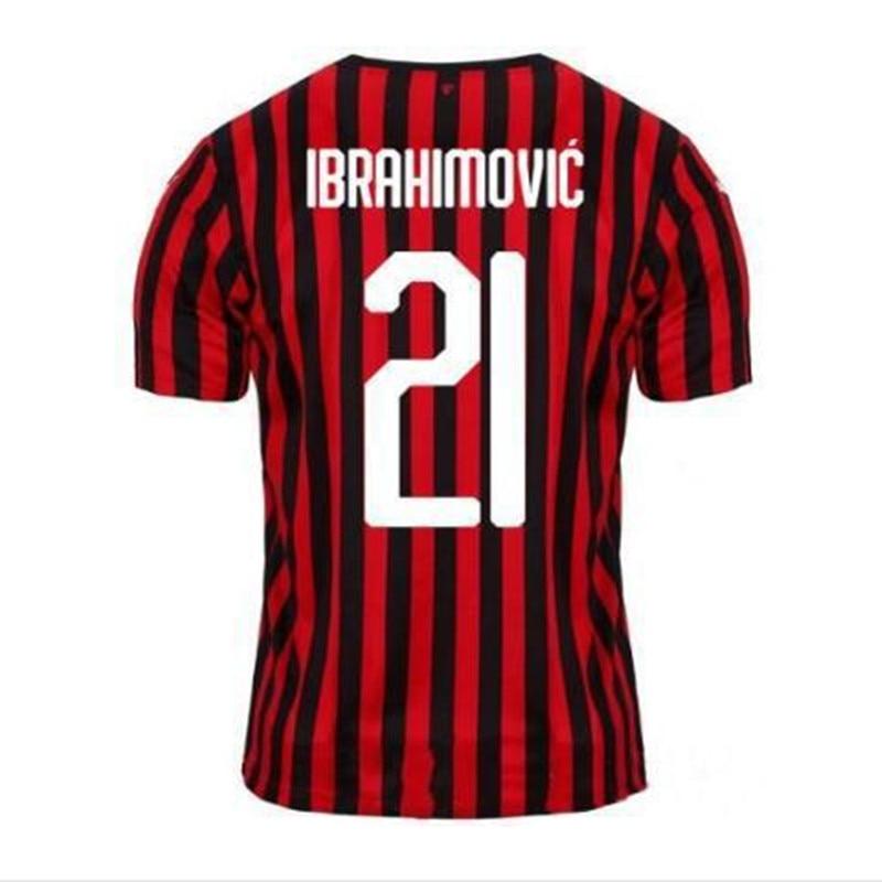 IBRAHIMOVIC 19 20 New AC Soccer Jerseys 2019 2020 PIATEK Football Shirt PAQUETA SUSO CALHANOGLU CALDARA Football Shirt