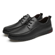 Black Hollow Business Leather Shoes Men's Fashion Casual Leather Loafers Shoes Men Breathable Oxfords Size 37-45 Formal Dress * luxury brand pu leather fashion men business dress loafers pointy black shoes oxford breathable formal wedding shoes