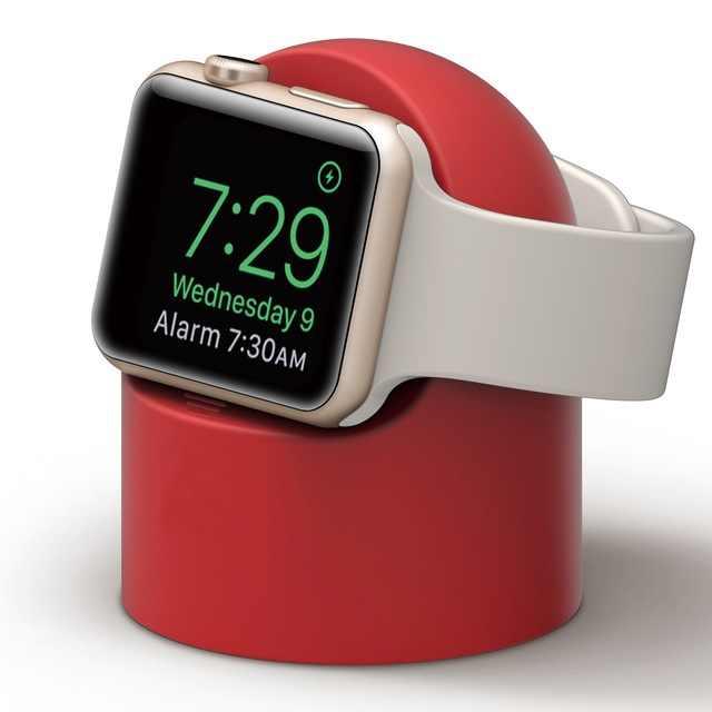 סיליקון מטען Stand הר עבור Apple שעון להקת סדרת 4 3 2 1 עבור 38 40 42 44 כבל ניהול מחזיק עבור Iwatch 5 4 3 2