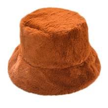 Женская зимняя утолщенная пушистая плюшевая шапка в рыбацком