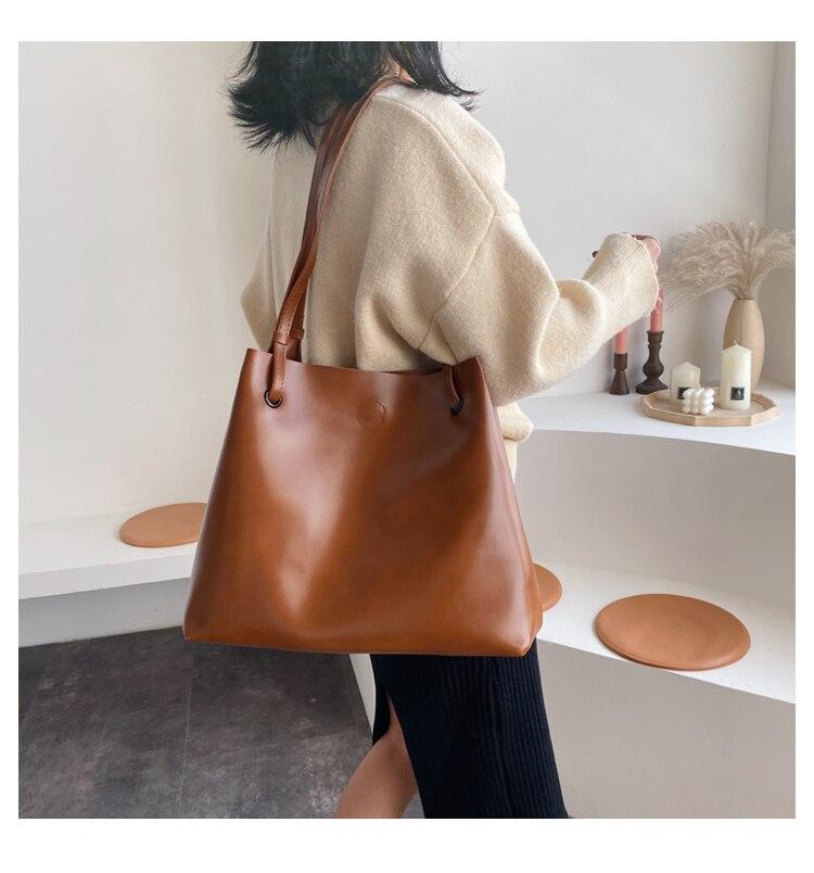 bolsa e bolsa femme sac a epaule bolso marrom