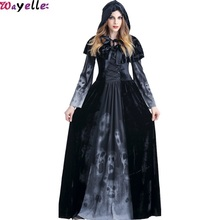 Wayelle New Halloween Costume ladys Adult Cosplay Clothes Character Girl Wear Play Party Woman Princess Dress with Hat