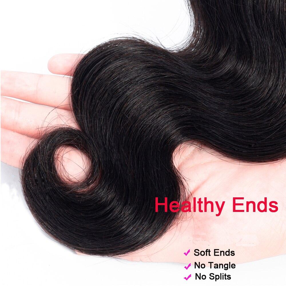 H2658a830b6fe427780d67b7f77146f10c Superfect Body Wave Bundles With Frontal Brazilian Human Hair Weave Bundles With Closure Remy Lace Frontal With Bundles