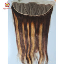Applegirl 8to 20 Inch Highlight Colored Straight Hair Lace Frontal Brazilian Remy Human Hair 13 By 4 Inch From Ear to Ear