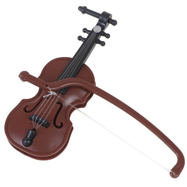 1/12 Dolls House Miniature Plastic Violin Music Instrument Model Accessories Toy 4