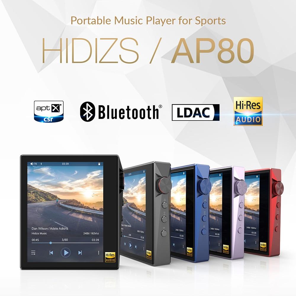 Hidizs AP80 Portable Touch Screen Sports Bluetooth HIFI Music MP3 Player  FLAC LDAC USB DAC DSD 64/128 FM Radio DAP