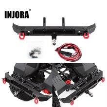INJORA 1PCS Metal Rear Bumper with D-rings for 1/10 RC Crawler Car Axial SCX10 III AXI03007 Upgrade Parts