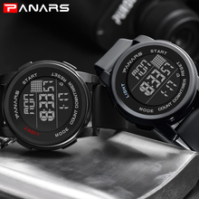 PANARS Casual Men Digital Watches Sports Waterproof Watches Chronograph Watches Running Alarm Clock Luminous Digital Watches cheap 26cm Plastic Buckle 5Bar 50mm Silicone 17mm Acrylic Back Light Shock Resistant LED display Multiple Time Zone Perpetual Calendar