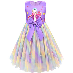Image 5 - בנות Jojo סיווה שמלת בנות קשת Vestidos ילדים מסיבת יום הולדת שמלת ילדי שמלות בנות חג המולד JOJO סיווה נסיכת שמלה