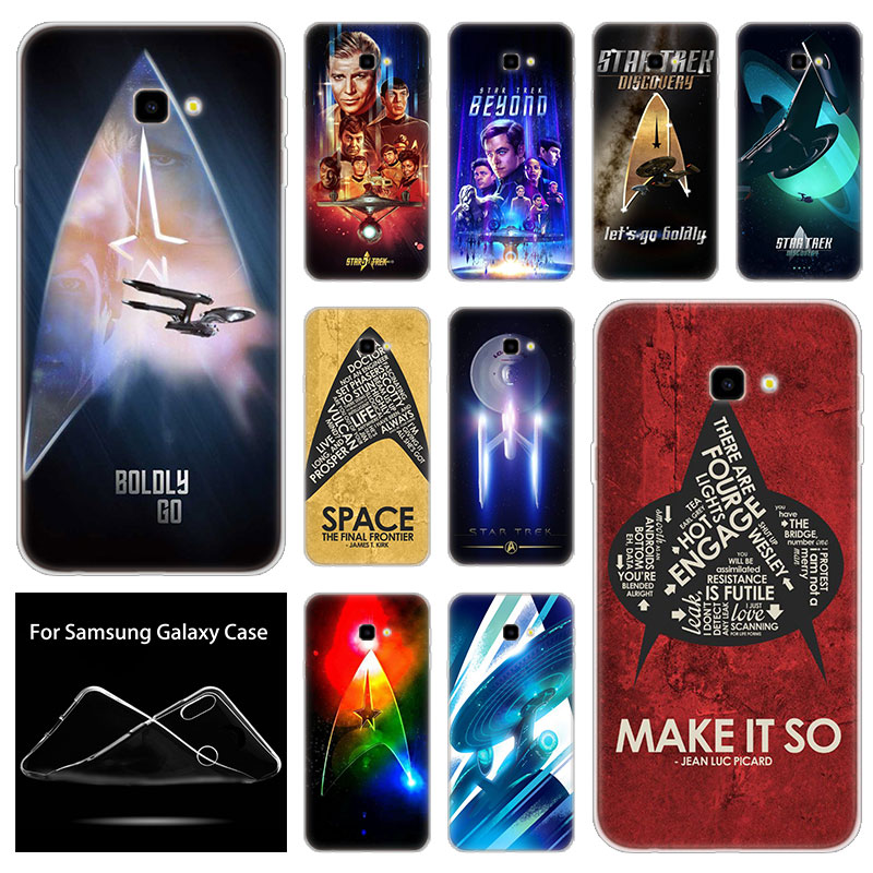 Soft Silicone Phone Case Star Trek For Samsung Galaxy J8 J6 J4 J2 Pro 2018 Core J6 J7 Prime J3 2016 J5 2017 EU J4 Plus Cover image