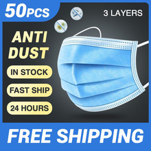 3 layer Disposable Medical font b Mask b font 5 200pcs Non Woven Anti Dust Meltblown