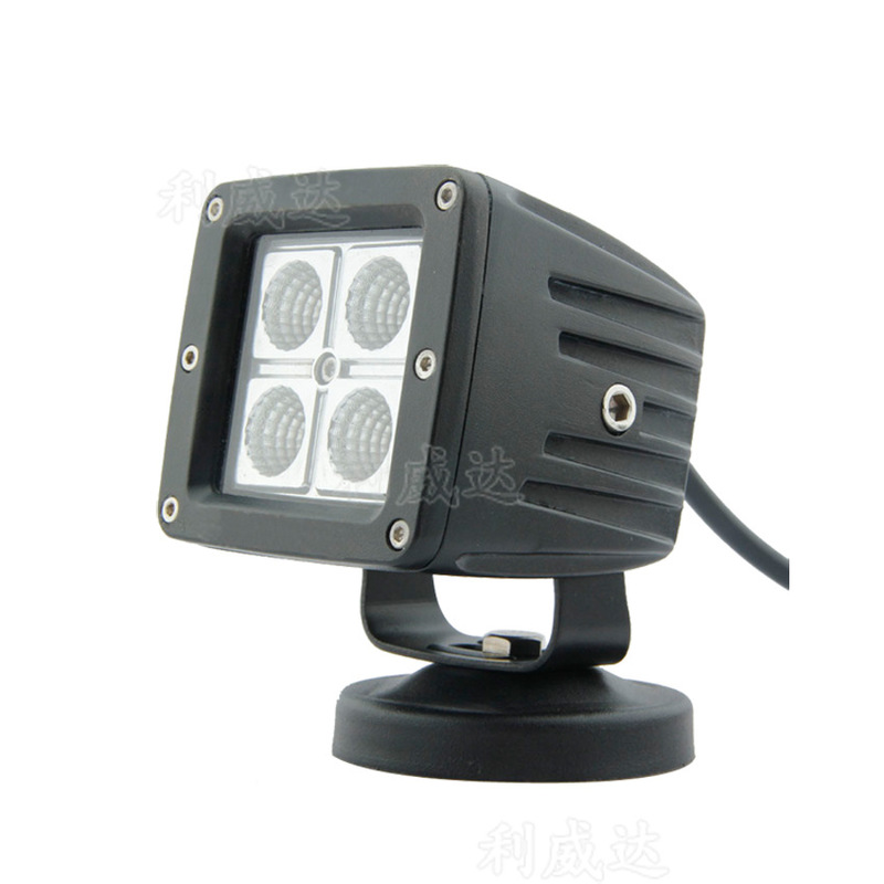 The Vectra 12 W Modified Lamp Auxiliary Lighting Lamp Condenser Floodlight 3 Inches Square LED Work Lamp