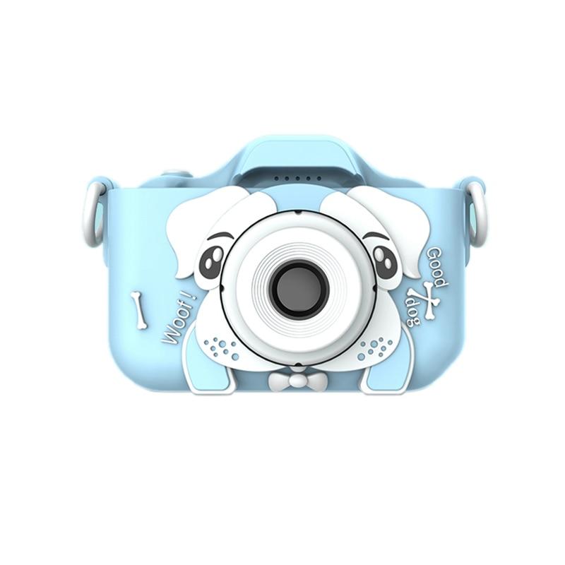 Q9 Kids Camera Creative Children's Camera 2.3 Inches HD Digital Camera Dual Selfie Cartoon Dog 1080P Camera For Kids Birthday Gi