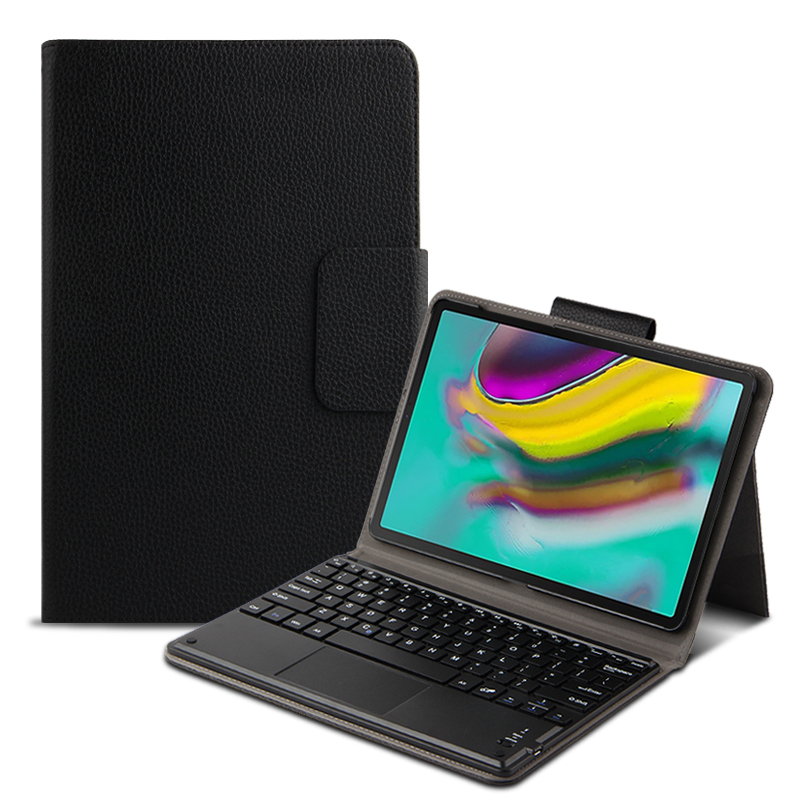 Smart Bluetooth Keyboard Case For Samsung Galaxy Tab A 10.1 2019 SM-T510 T515 Tablet PU Leather Protective Keyboard Cover + Film