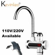 Bezzbiornikowy podgrzewacz wody z kranu Element 110V 220V 3000W kuchnia natychmiastowy elektryczny kran ciepłej wody elektryczny kran