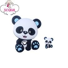 Beads Bpa-Free Silicone Rattle Baby Toys Panda-Koala Mini Rod XCQGH Te Tiny 2pc/Set