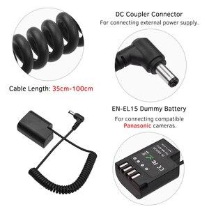 Image 2 - Andoer LP E6 Dummy Batterij DC Coupler Connector Lente Kabel Batterij Vervanging voor Canon 5D2 5D3 5D4 6D 6D2 60D 7D 7D2
