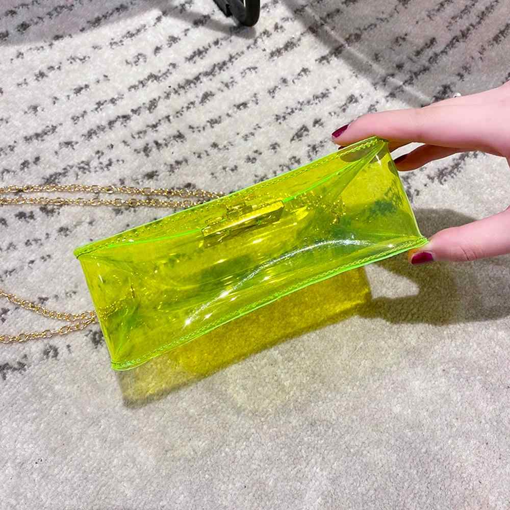Flap Jelly Tas Rantai Tas Selempang untuk Wanita Ponsel Koin Tas Tas Selempang Pengait Tas Bahu Tas Tangan 20