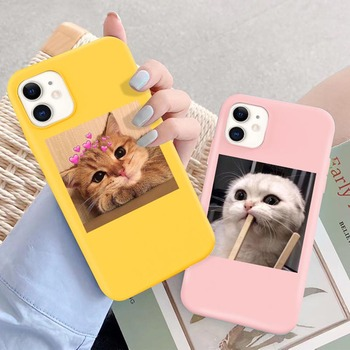 moskado ins Funny Cat Pattern Phone Cover For iPhone 11 Pro Max X XR XS Max 5s 6s 7 8 7Plus Soft Silicone Case Shockproof Cover image