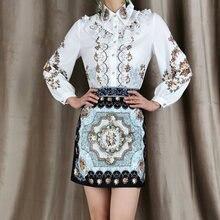 Модные весенне осенние элегантные рубашки с длинными рукавами