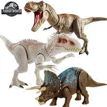 Figurine originale de Jurassic World, tyrannosaure Rex, figurine d'action, jouets pour enfants, Triceratops
