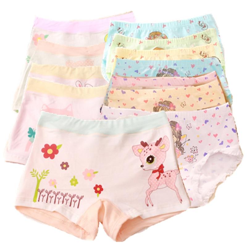12PCS/Lot Girl Cotton  Panties Girls' Briefs Soft Panties for Girls Kids Underwear 2-12 Years Kids Girl's Boxer Shorts 2