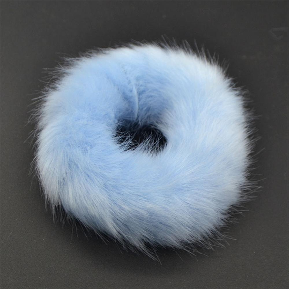 Милые эластичные резинки для волос для девочек, искусственный мех, резиновое эластичное кольцо, веревка, пушистый галстук, аксессуары для волос, меховые резинки, повязка на голову - Цвет: A4