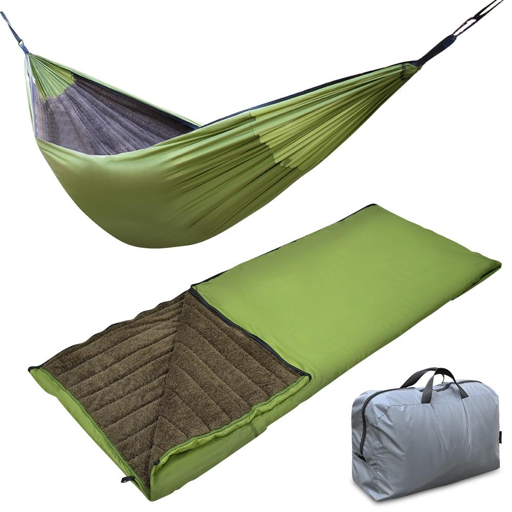 Outdoor Camping Hammock Underquilt Hanging Sleeping Under Blanket Bag Portable