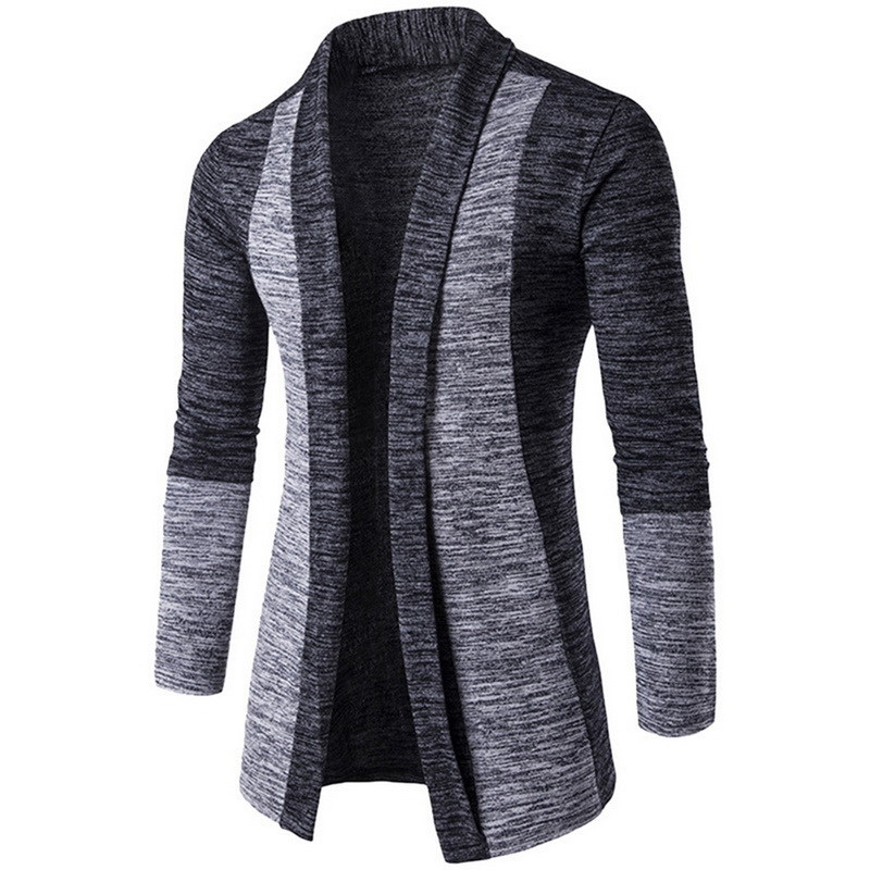 Men Winter Casual Turn Down Collar Long Sleeve Knit Cardigan WST